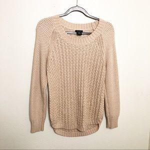 Calvin Klein Blush Pink Open Knit Sweater